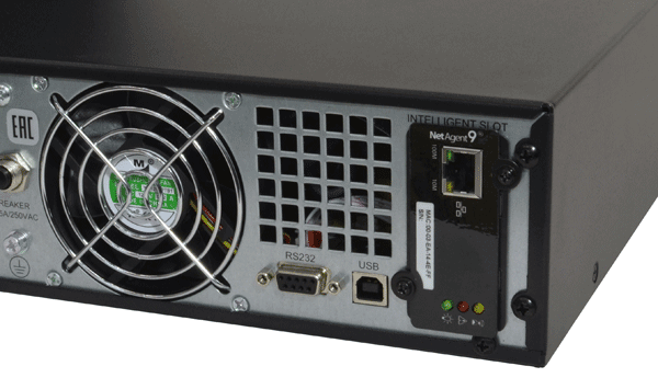 Однопортовая карта SNMP установленная во внутренний слот ИБП